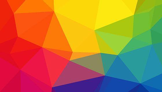 彩虹三角形背景矢量素材(AI/PNG)