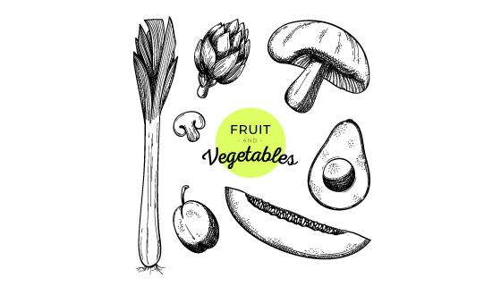 手绘蔬菜水果矢量素材(EPS)