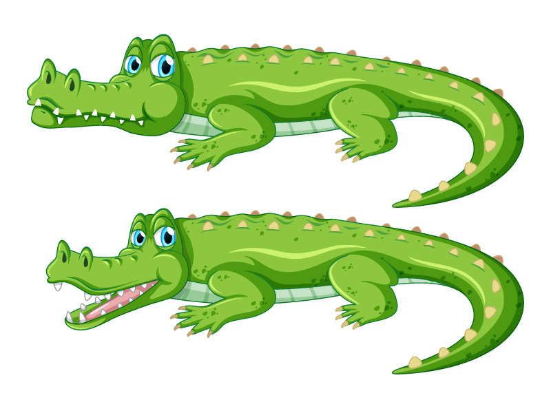 逼真的鳄鱼矢量素材(EPS/免扣PNG)