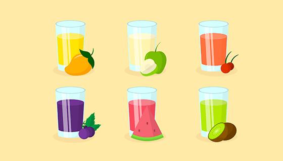 各式各样的美味果汁矢量素材(EPS/AI)