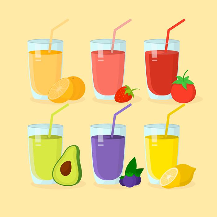 6款美味果汁矢量素材(EPS/AI)