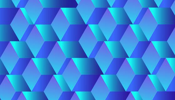 抽象3D蓝色立方体背景矢量素材(EPS/AI)