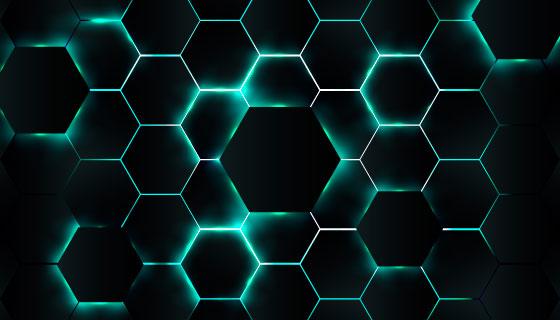 抽象绿色科技背景矢量素材(EPS/AI)