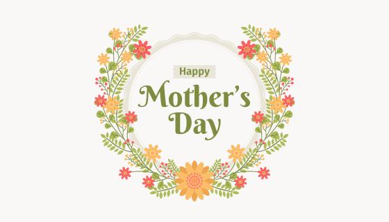 花卉设计母亲节背景矢量素材(EPS/AI/PNG)