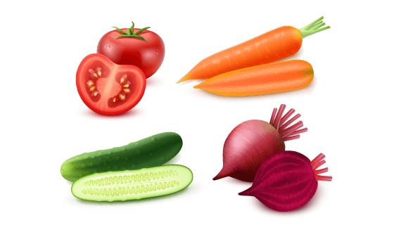 逼真蔬菜矢量素材(EPS)