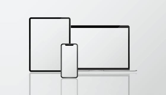 MacBook/iPad/iPhone模型矢量素材(EPS)