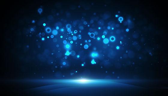 蓝色抽象背景素材(PSD)