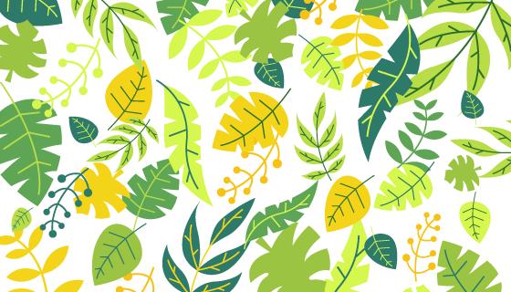 漂亮的叶子背景矢量素材(EPS/AI)