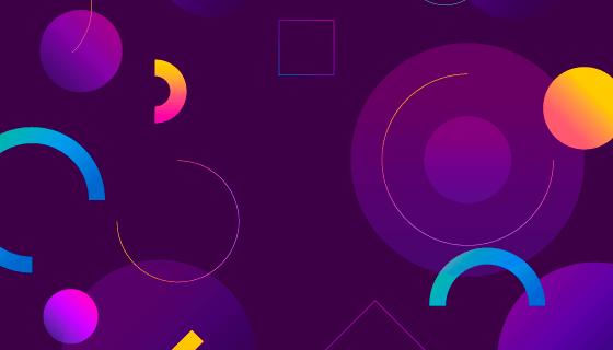 抽象紫色几何背景矢量素材(EPS/AI)