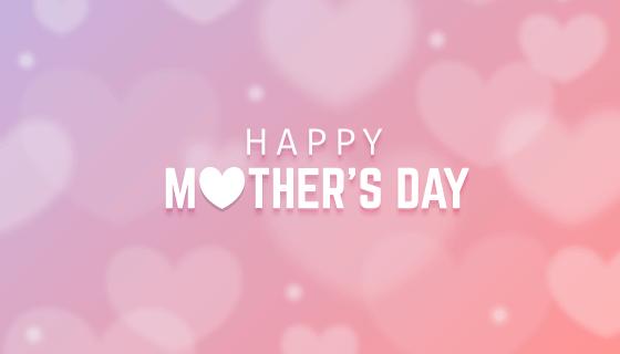 模糊的母亲节快乐背景矢量素材(EPS/AI)