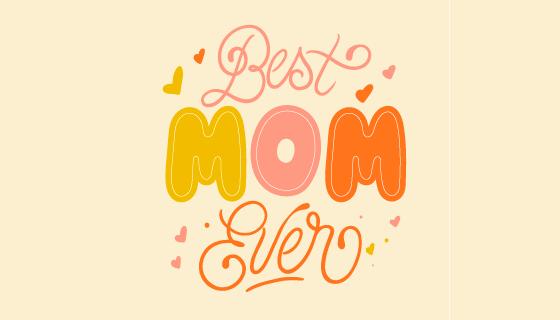 字母设计母亲节背景矢量素材(EPS/AI/PNG)