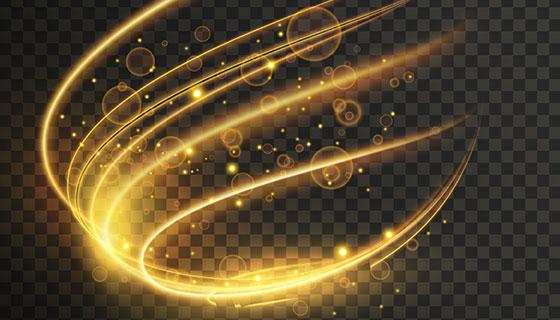透明动态光效果矢量素材(EPS)