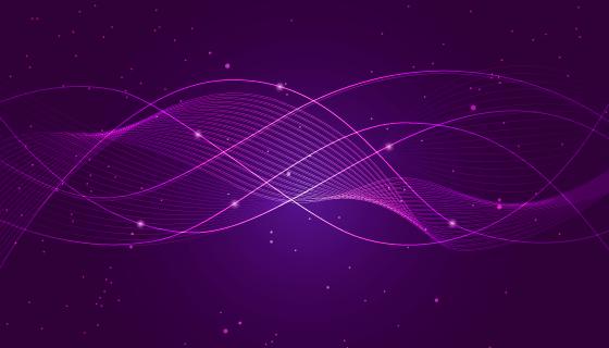 紫色抽象科技背景矢量素材(EPS)