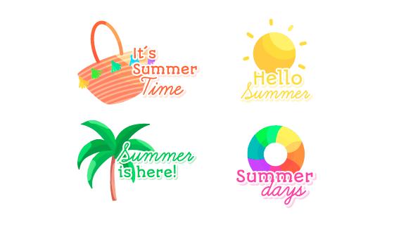 创意可爱夏天元素矢量素材(EPS/AI)