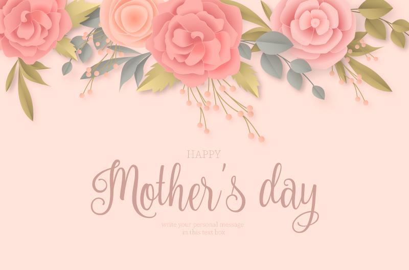 花卉设计母亲节背景矢量素材(EPS)