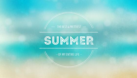模糊的夏天背景矢量素材(EPS)
