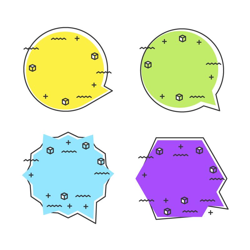 多彩可爱的气泡矢量素材(EPS/AI/免扣PNG)