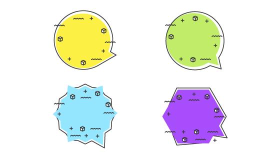 多彩可爱的气泡矢量素材(EPS/AI/PNG)