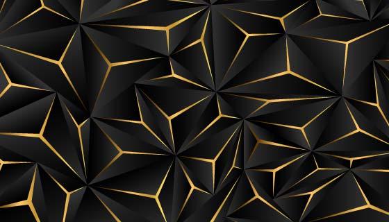 抽象黑金色商务背景矢量素材(AI/EPS)
