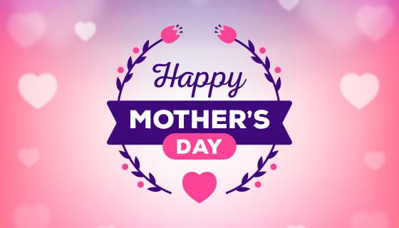 爱心设计母亲节背景矢量素材(AI/EPS)