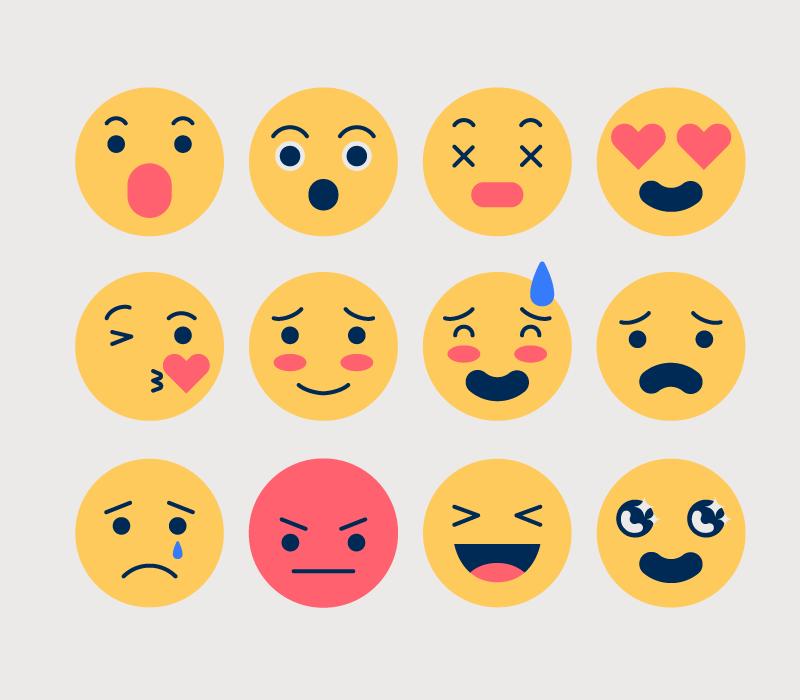 创意可爱表情矢量素材(AI/EPS/免扣PNG)