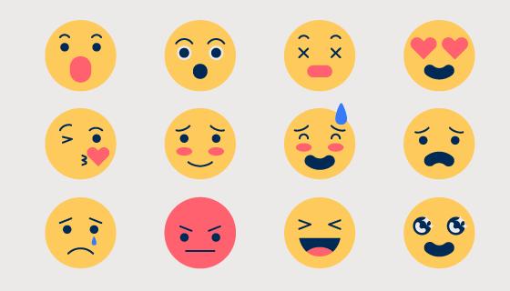 创意可爱表情矢量素材(AI/EPS/PNG)