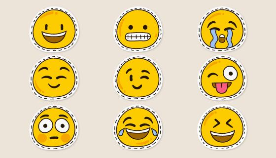 可爱的表情矢量素材(AI/EPS/PNG)