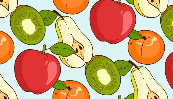 热带水果图案矢量素材(AI/EPS)