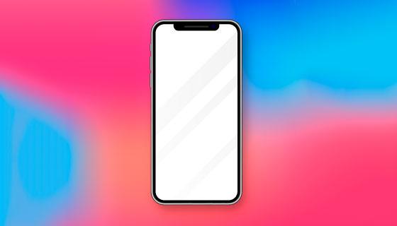逼真的iPhone X矢量素材(AI/EPS)