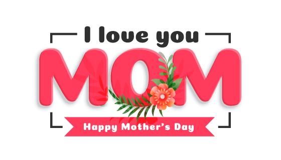 创意字母设计母亲节快乐矢量素材(EPS/PNG)