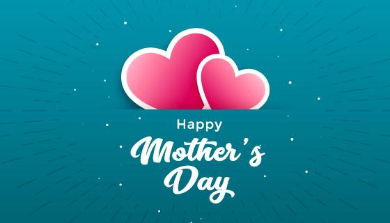 爱心设计母亲节快乐矢量素材(EPS)