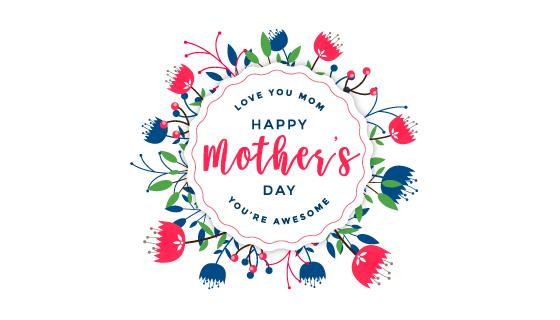 漂亮花卉设计母亲节快乐矢量素材(EPS)
