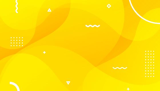 黄色液体形状背景矢量素材(AI/EPS)