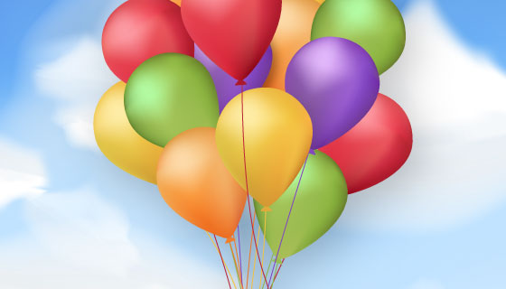 逼真多彩的气球矢量素材(EPS)