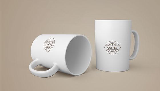 逼真的咖啡马克杯素材(PSD)