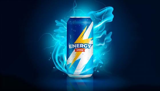 逼真的易拉罐饮料设计矢量素材(AI/EPS)