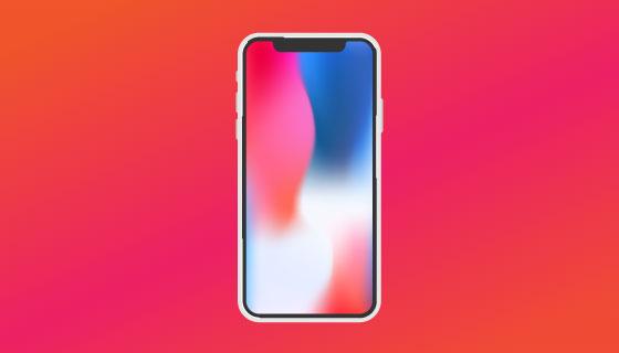 iPhone X矢量素材(AI/EPS)