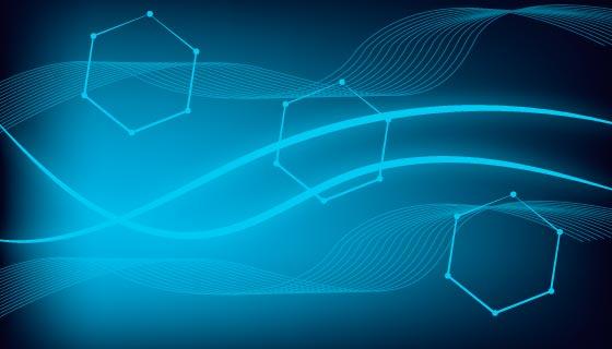 创意抽象科技背景矢量素材(AI/EPS)