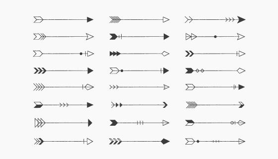 各种各样的箭头矢量素材(EPS/PNG)