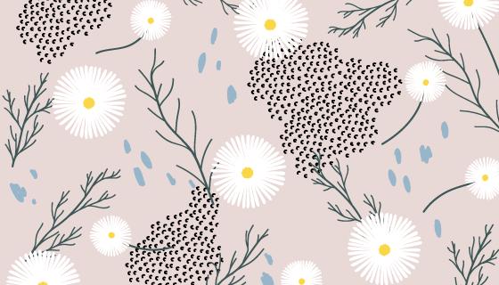 复古花卉图案背景矢量素材(EPS/PNG)