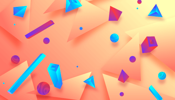 抽象3D空间背景矢量素材(AI/EPS)