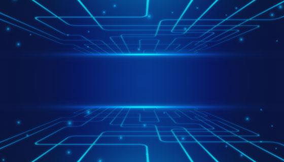 抽象蓝色科技背景矢量素材(AI/EPS)