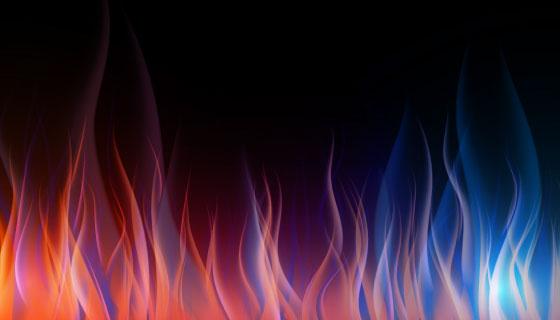 逼真的火焰背景矢量素材(AI/EPS)