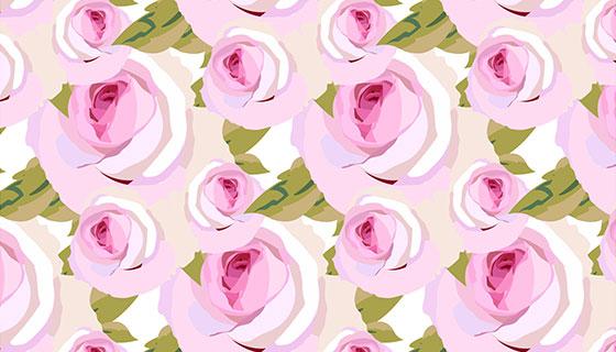 粉色玫瑰图案背景矢量素材(EPS)