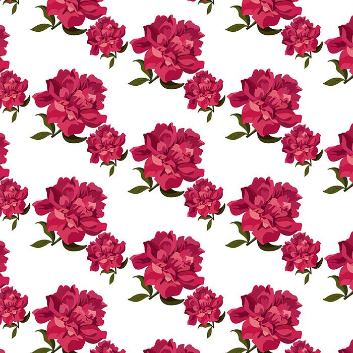 红色玫瑰图案背景矢量素材(EPS)