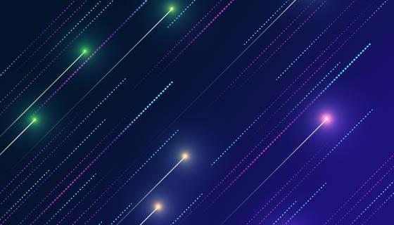 抽象蓝色粒子线条背景矢量素材(AI/EPS)