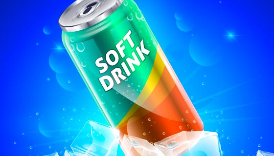 易拉罐饮料设计矢量素材(AI/EPS)