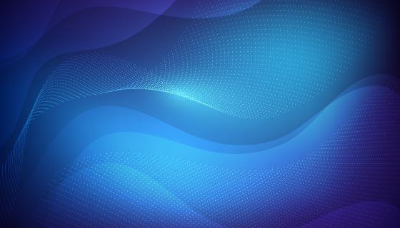 蓝色抽象科技背景矢量素材(AI/EPS)