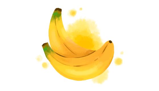 水彩风格香蕉矢量素材(AI/EPS)