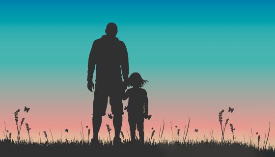 背影设计父亲节背景矢量素材(AI/EPS)